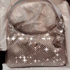 Prada Crystal Re Edition Hobo Bag